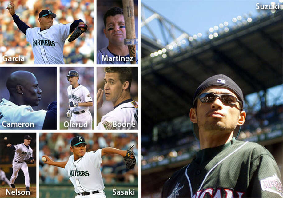 2001 | Bret Boone, Mike Cameron, Freddy Garcia, Edgar Martinez, Jeff Nelson, John Olerud, Kazuhiro Sasaki, Ichiro Suzuki