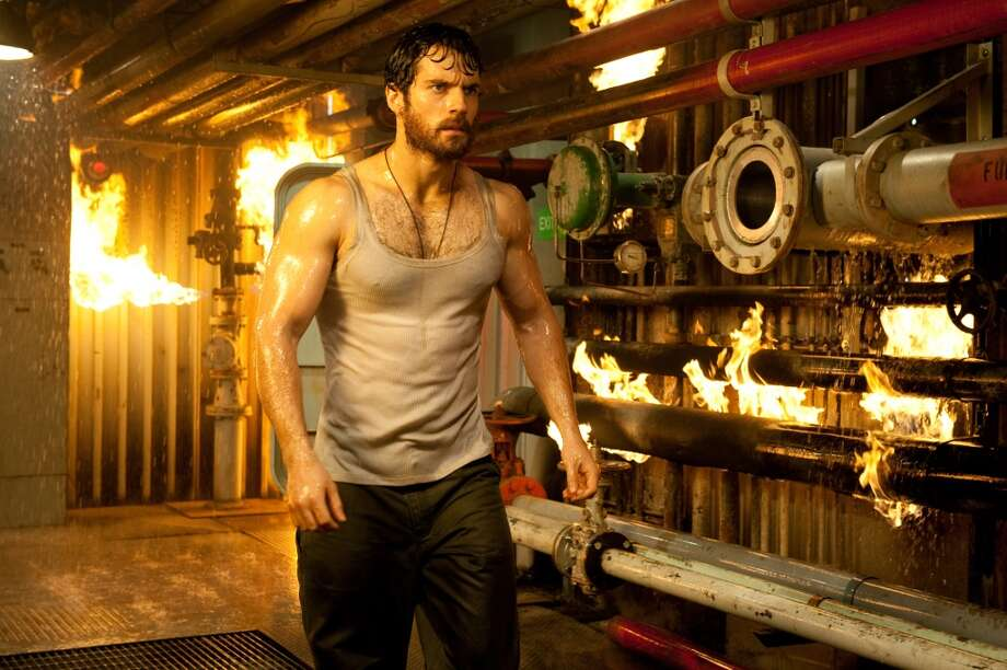 "Henry Cavill as pre-Superman Clark Kent in ""Man of Steel."" The first forty minutes of the film featured a mostly unshaven, shirtless hirsute Cavill . Photo: Clay Enos, Associated Press"