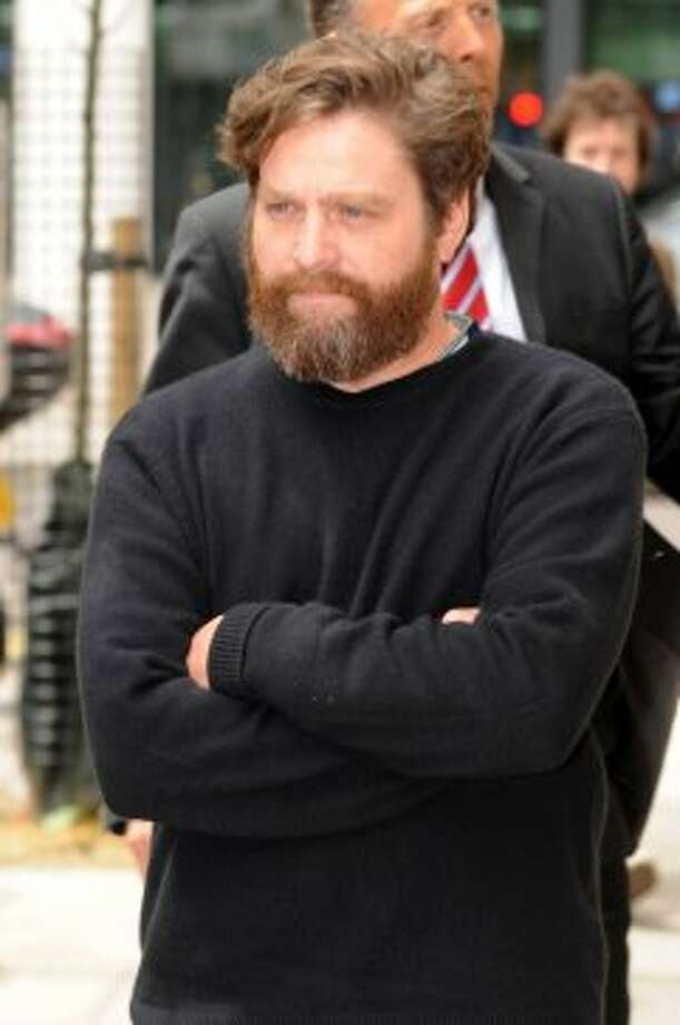 Zach Galifianakis and his bushy beard at BBC Radio One studios on May 23, 2013 in London, England. Photo: SAV, FilmMagic
