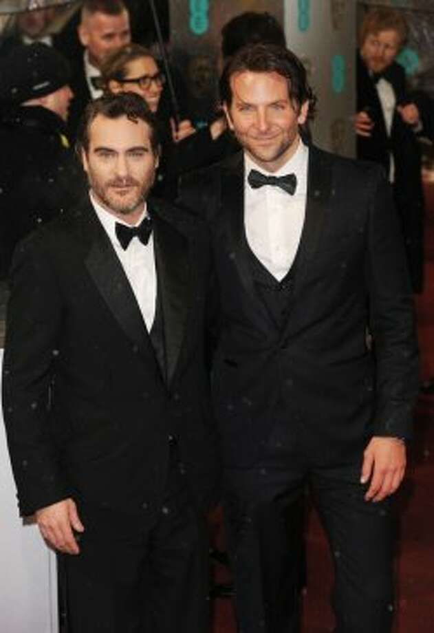 Double the actors (Bradley Cooper and Joaquin Phoenix) , double the scruff. Photo: Samir Hussein, Getty Images