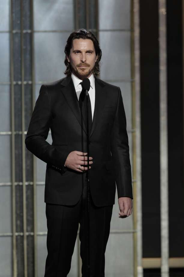 Christian Bale with a beard and a long mane. Photo: Handout, Getty Images