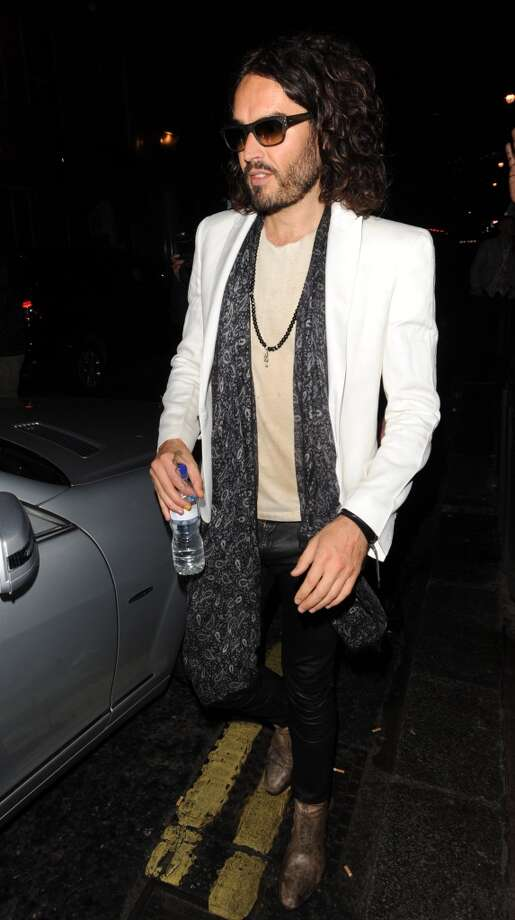 Russell Brand, seen in London, England, has always got some kind of facial hair going on. Photo: Alan Chapman, FilmMagic
