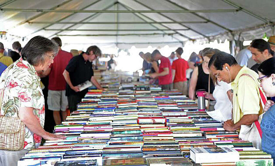 Online registration for the frst 200 places in line for the Westport Library's book sale runs from noon July 12 through noon July 13 at www.westportlibrary.org. The sale itself is set for July 20-23. Photo: File Photo / Westport News