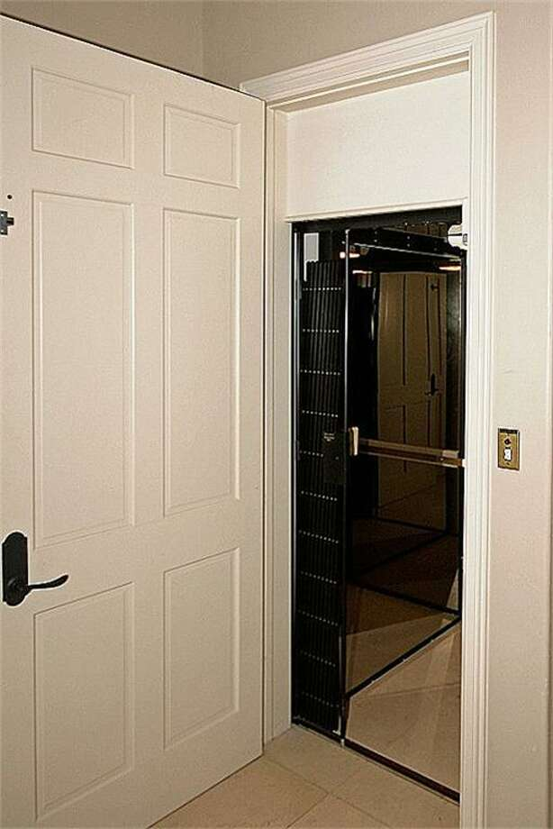 The home has an elevator for easy movement through the house.
