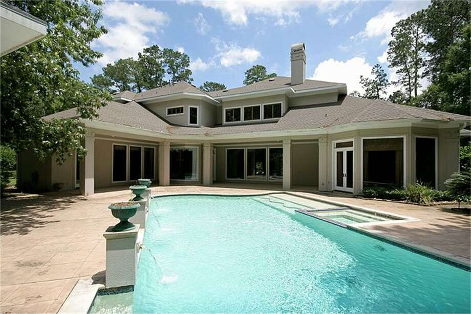 Swimmers will enjoy the home's large outdoor pool.