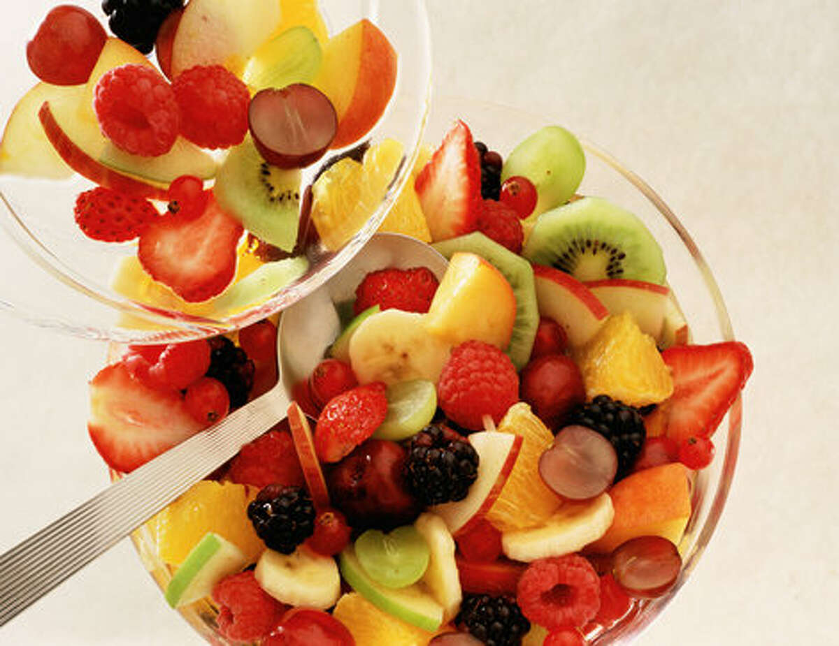Fruit salad is cold, sweet, refreshing and good for you.