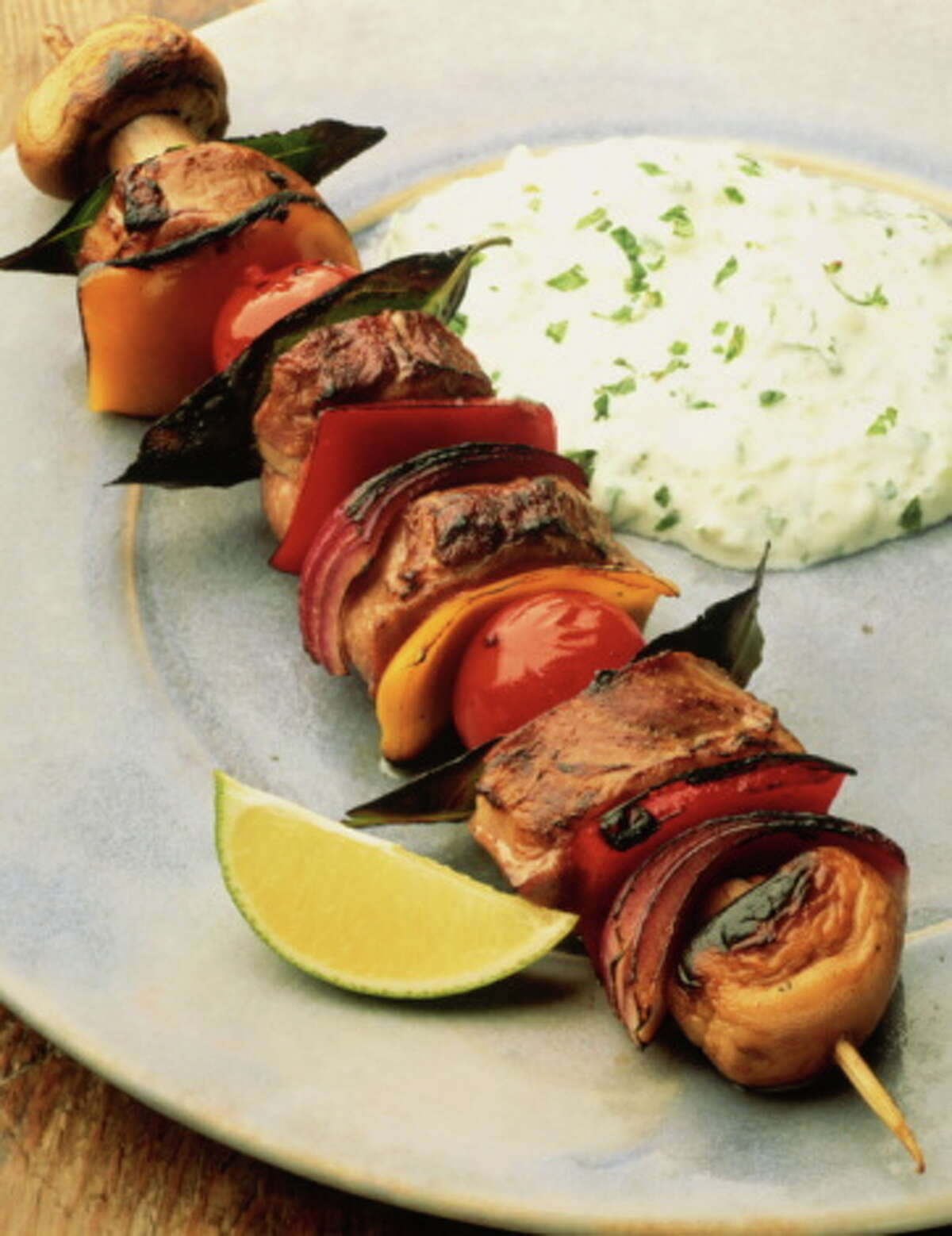 A kebab is an easier and healthier option for the grill.