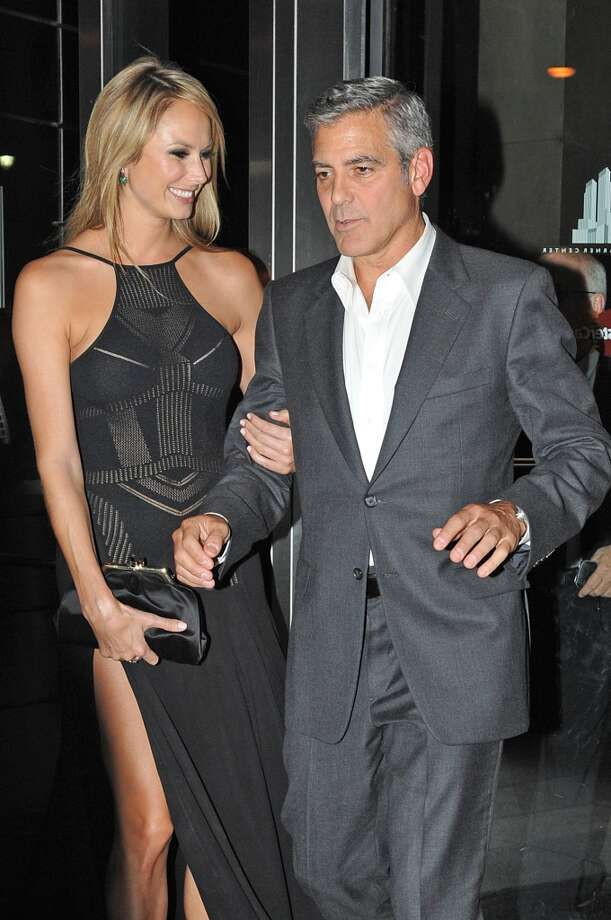 With Clooney, 2011.