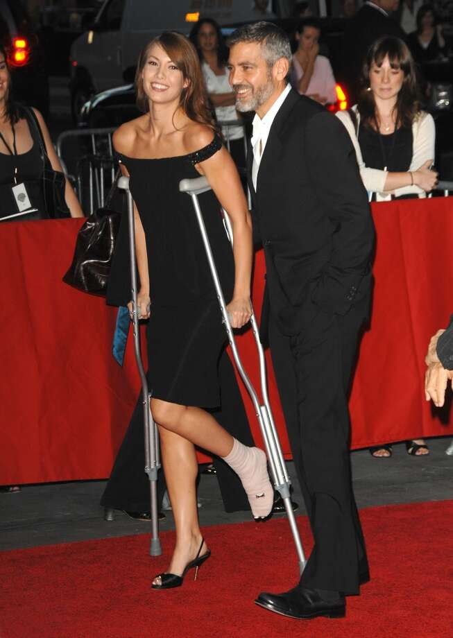 Clooney and Sarah Larson were injured in a motorcycle accident in 2007.