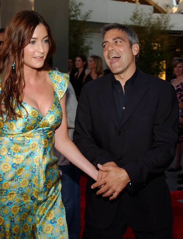George Clooney and Lisa Snowdon at ''The Bourne Supremacy'' premiere.