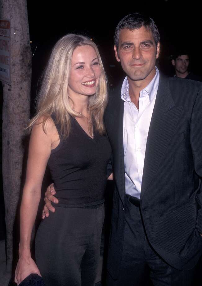 In the '90s, George Clooney dated Celine Balitran, pictured at ''The Peacemaker'' premiere in 1997.