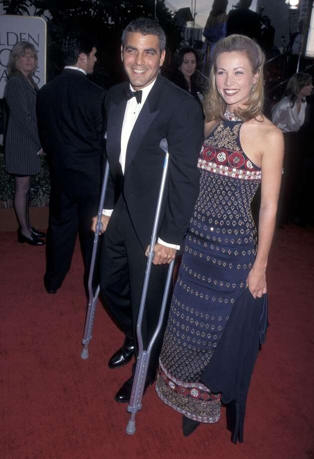 George Clooney and Celine Balitran at the Golden Globes, 1997.