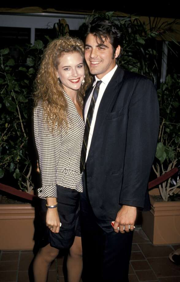 Hair and hair: Kelly Preston and George Clooney, in the late '80s.