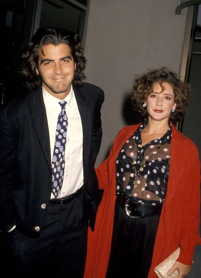 Not true that George Clooney was never married. For a brief moment beginning in the late '80s, he was married to Talia Balsam.