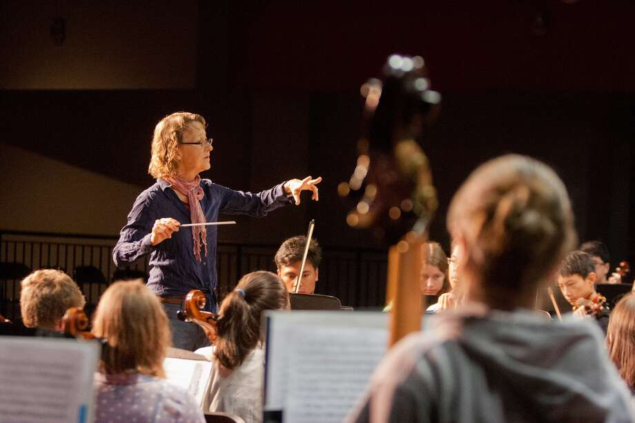 "Barbara Scowcroft has been a teacher at American Festival for the Arts' Summer Music Conservatory for 13 years. Conductor of the conservatory orchestra, Scowcroft says the program pushes its young participants to master challenging music. ""It's jumping in the deep end of the pool,"" she says. ""And to watch them transform is of course the greatest joy a teacher can have."" Photo: R. Clayton McKee, Freelance / © R. Clayton McKee"