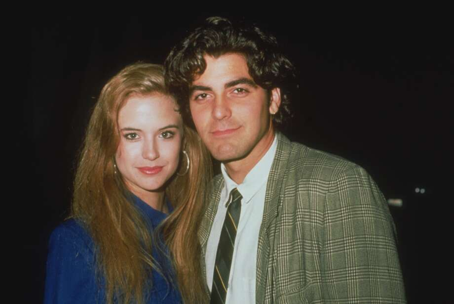 George Clooney and Kelly Preston: 1987-1989. Preston is now married to John Travolta. Photo: Frank Edwards, Getty Images