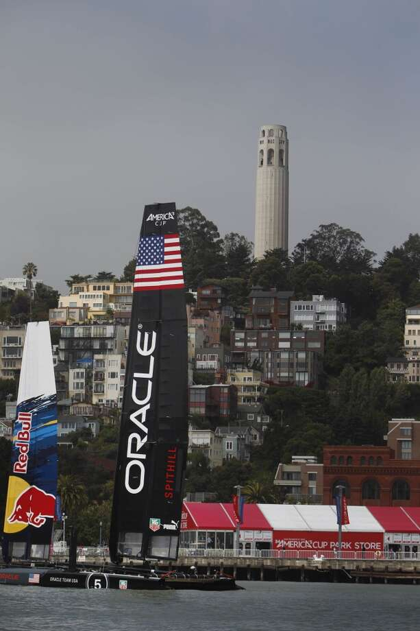 Oracle AC45 Spithill is seen on the water on Friday, July 5, 2013 in San Francisco, Calif. Photo: The Chronicle