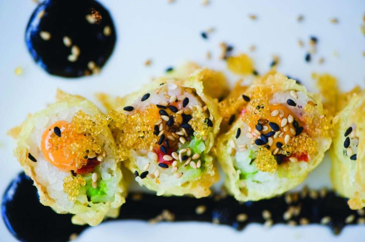 Shag Roll (tempura salmon, avocado and sundried tomoato) at Uch.