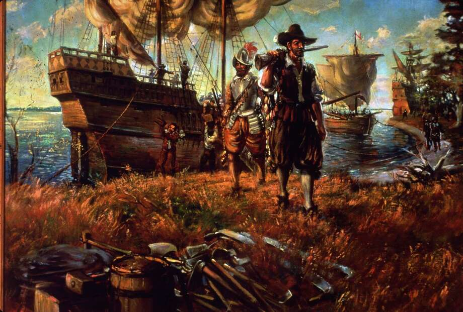 Circa 1607, Settlers landing on the site of Jamestown, Virginia, the first permanent English settlement in America. Researchers announced in May that remains found last year show signs of cannibalism, suggesting the first settlers ate the flesh of colonists who had died during the harsh winter of 1609-10. Photo: MPI, Getty Images / Getty Images