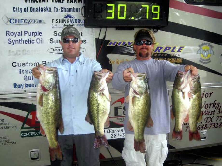 Tournament winners, Kris Wilson & Charles Bebber brought in an awesome limit of fish that weighed 30.79 lbs. which included an impressive 9.23 pounder.