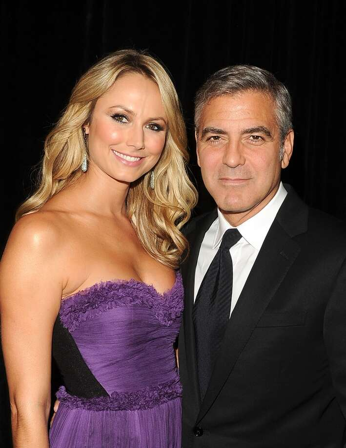 Stacy Keibler and George Clooney. The couple began dating in 2011 and split this year. Photo: Jason Merritt, Getty Images For Hollywood Film