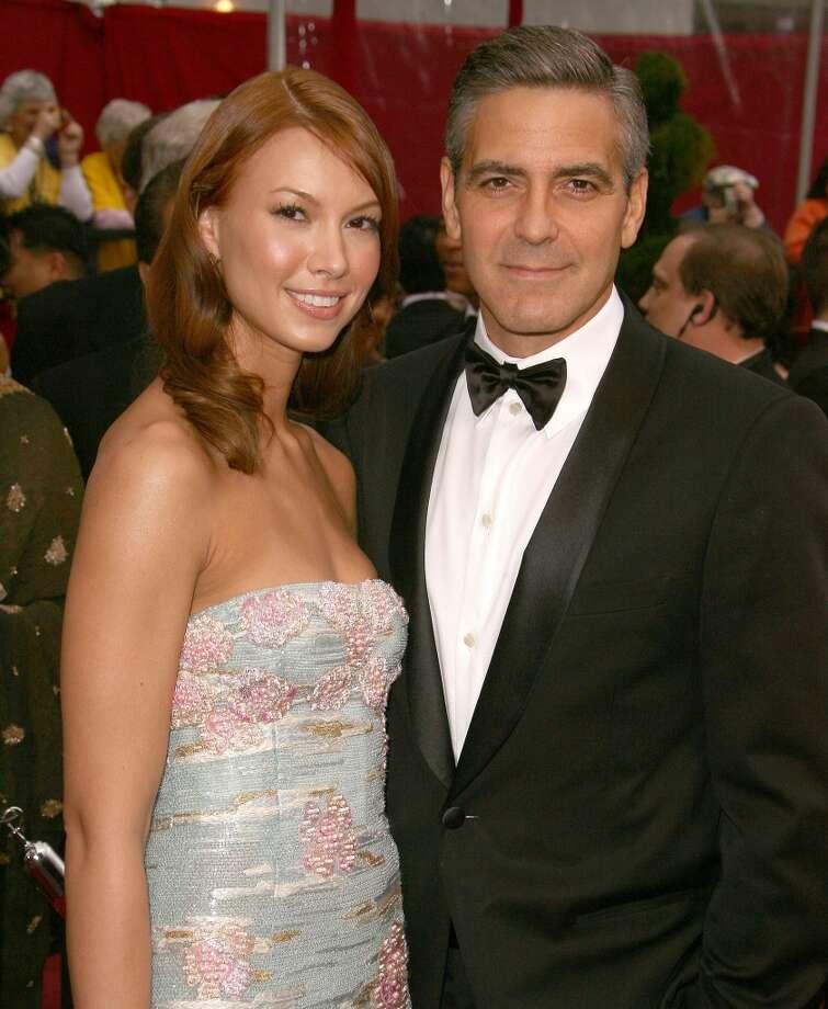 George Clooney and Sarah Larson: 2007-2008. Photo: Steve Granitz, WireImage