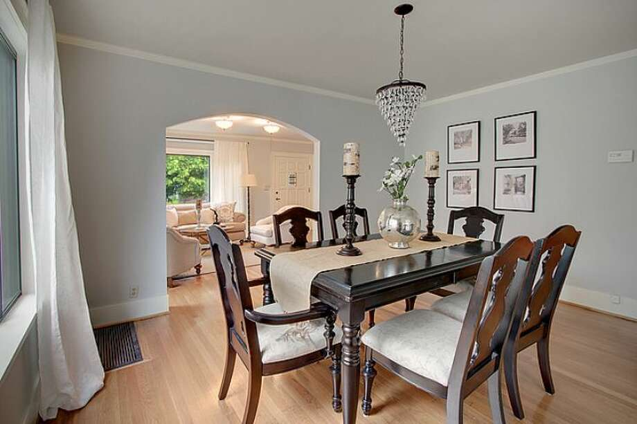 Dining room of 7530 Roosevelt Way N.E. The 2,770-square-foot Craftsman, built in 1925, has four bedrooms, two bathrooms, a daylight basement with a rec room and a back deck on a 4,320-square-foot lot. It's listed for $500,000. Photo: Courtesy Steve Laevastu And Roger Turner, Windermere Real Estate