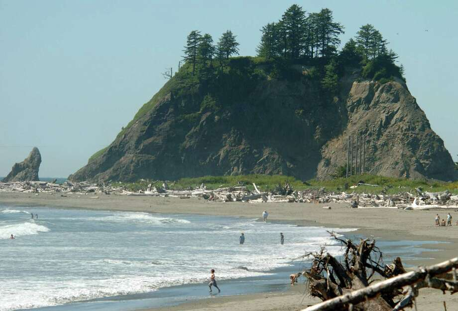 Or head out to other wild, coastal beaches, like Ruby Beach near Forks, or First Beach in La Push, pictured. Photo: Jeff Larsen