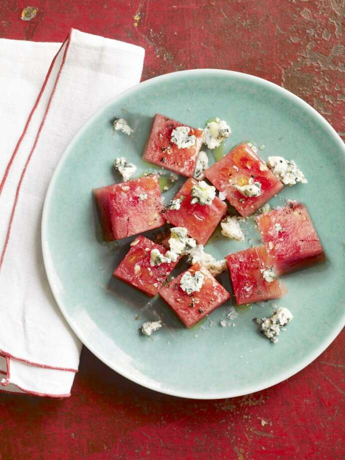 Country Living recipe for Watermelon and Blue Cheese Salad. Photo: Kana Okada