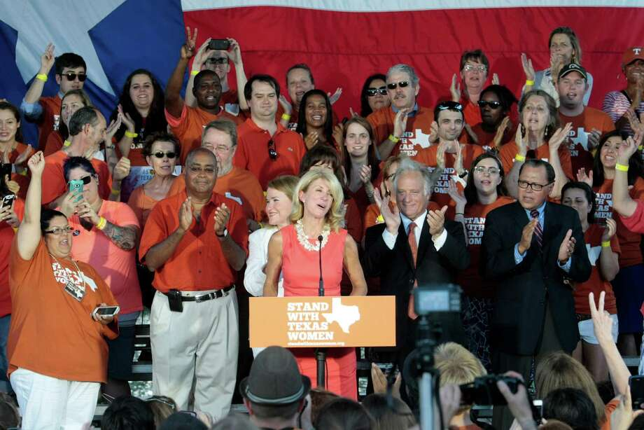 State Sen. Wendy Davis speaks during the Planned Parenthood Action Fund's Stand with Texas Women Rally at Discovery Green in Houston, Texas. Photo: Billy Smith II, Chronicle / © 2013 Houston Chronicle