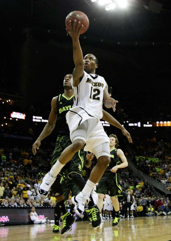 1 Marcus Denmon, guard, 6-3, 185, Missouri/USAPHOTO: Missouri's Denmon shoots against the Baylor Bears during the championship game of the 2012 Big 12 Men's Basketball Tournament at Sprint Center on March 10, 2012, in Kansas City, Mo. (Jamie Squire / Getty Images)