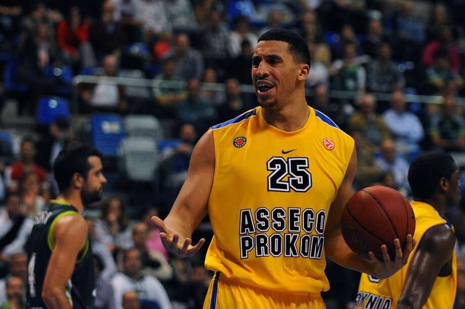 8 Ryan Richards, forward, 6-11, 230, CB Gran Canaria/EnglandPHOTO: Asseco Prokom's Richards reacts during the Euroleague basketball match against Unicaja on Nov. 22, 2012, at the Palacio de los deportes J.M. Martin Carpena sports hall in Malaga. (Jorge Guerrero / AFP / Getty Images)