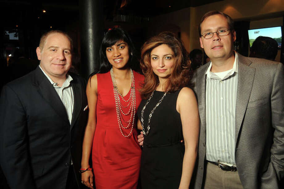 From left: George Murr, Angelique Pereira, Mahzad Mohajer and Greg Orlean Photo: Dave Rossman, For The Houston Chronicle / © 2013 Dave Rossman