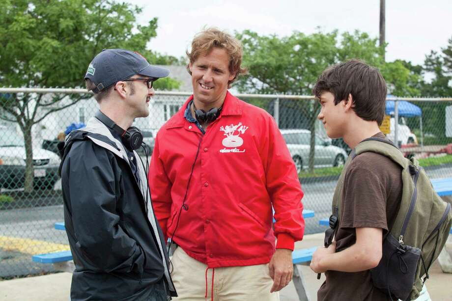 "Filmmakers Jim Rash, from left, and Nat Faxon discuss a scene with Liam James, who plays Duncan in ""The Way, Way Back."" Photo: Fox Searchlight Pictures / ©WWBSP LLC. All Rights Reserved."