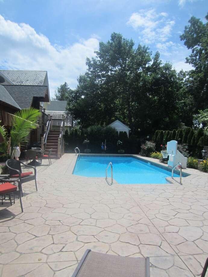 Mayor Scott Johnson's pool.