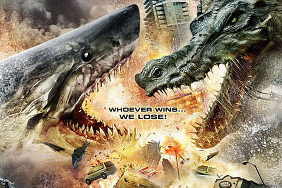 "Mega Shark vs. Crocosaurus (2010)""A megalodon battles with a crocosaurus causing massive destruction. The US Army has to try and destroy the havoc creating monsters."" Photo: Syfy"