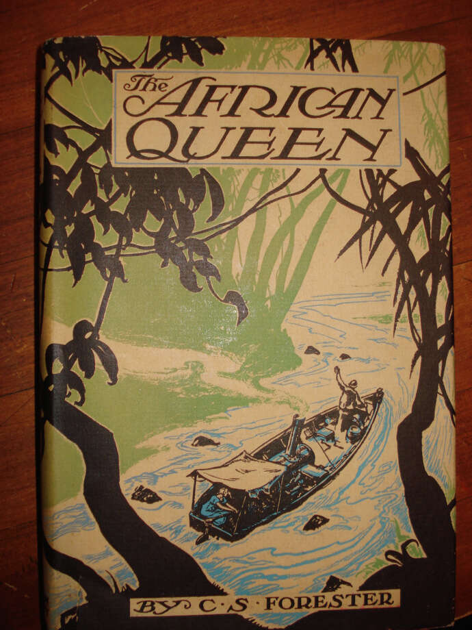 Rare collectibles for offered at C.H. Booth Library's annual book sale include a copy of ìThe African Queenî by C.S. Forester, on sale for $1,500. Photo: Contributed Photo
