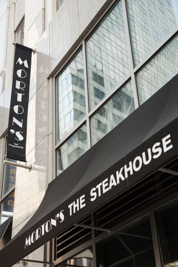 Exterior of the new Morton's The Steakhouse near the World Trade Center Tower in Manhattan.
