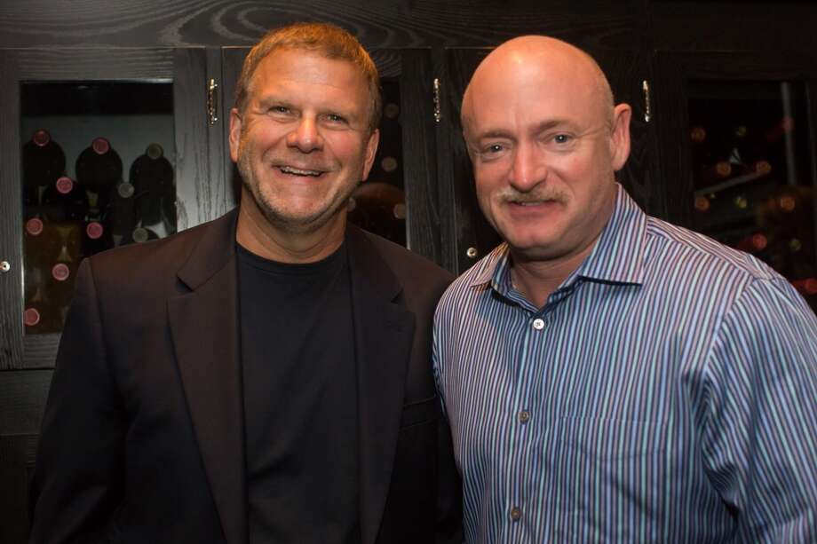 Among the attendees at the Tuesday evening preview party were Landry's owner Tilman Fertitta, left, and former astronaut Mark Kelly.