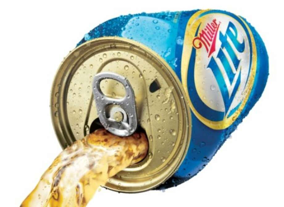 Punch-top can (2012): Perhaps more gimmick than practical, but there is science behind the idea of a better pour when oxygen is allowed into the can as beer comes out. Photo: PR NEWSWIRE / MILLERCOORS
