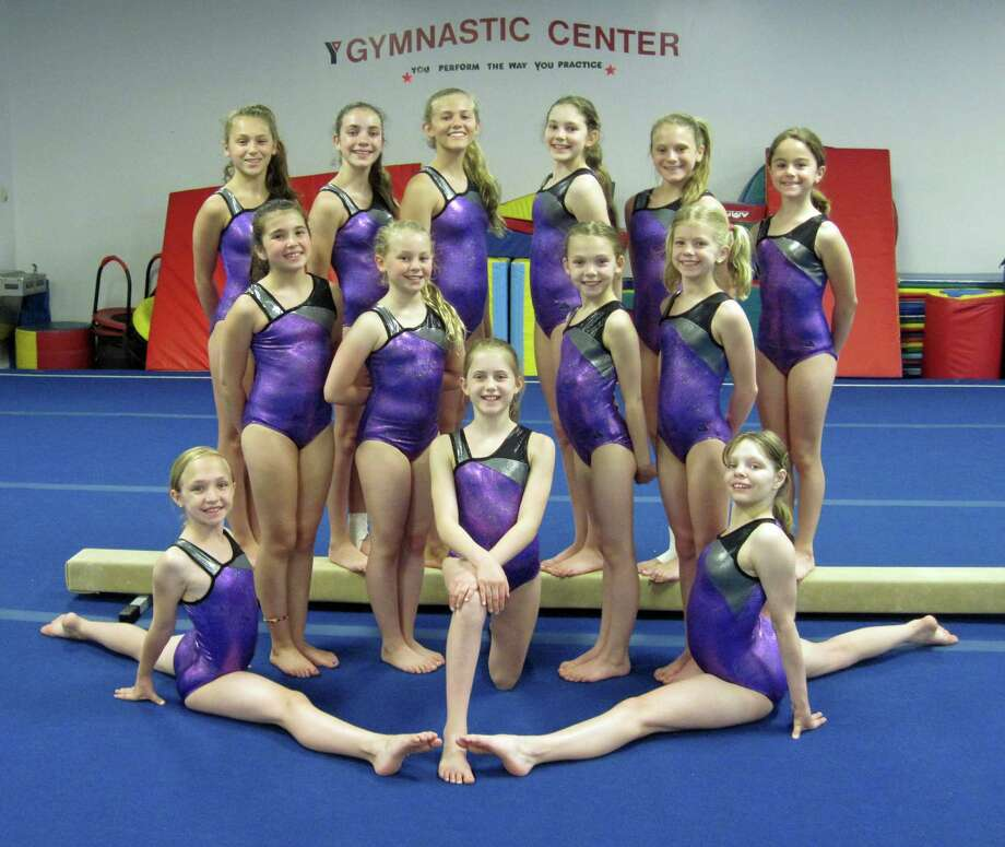 The Westport Weston Y Family gymnasts earned more than 22 individual and All Around awards at the YMCA National Championships in Savannah, Ga. from June 26 to 29. Pictured, top row left to right, are Emily Prister, Margaret West, Kelsey Lemke, Sarah McKinnis, Aliza Dodge and Shea Baker. Middle row left to right, are Lili Kane, Alison Long, Mia Parkes and Kylie Doyle. Bottom row left to right, are Chloe Ashton, Chloe Beck and Blaire Gowrie. Not pictured is Chandler O'Reardon. Photo: Contributed Photo