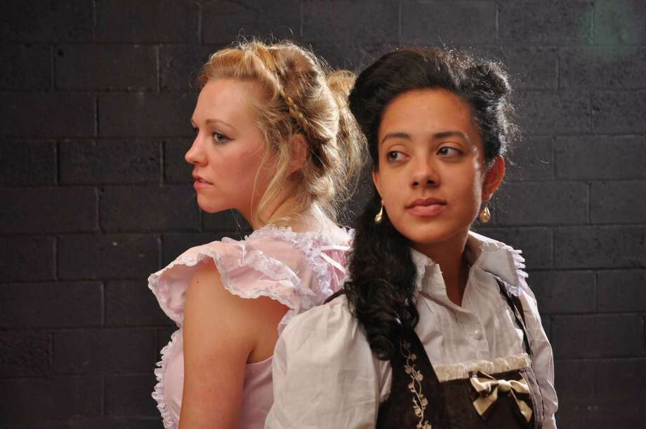 "Jordan Fyvie as Wendla and Leila Ashley Viera as Ilse in Our Own Productions' ""Spring Awakening""  (The Creative Advantage, Inc, Kurt Warner Photographer)"