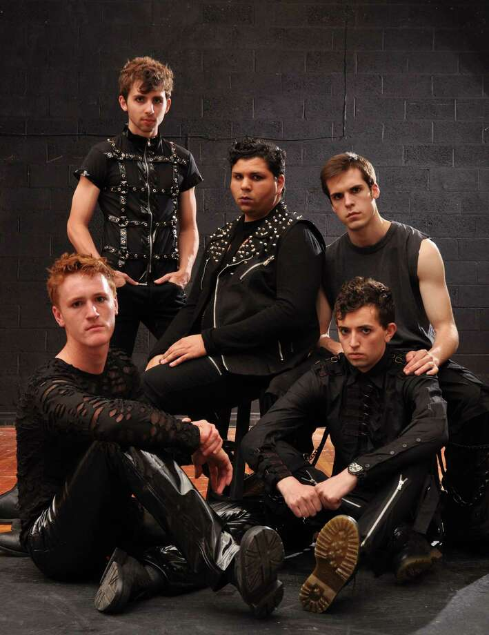 "The male ensemble in Our Own Productions' ""Spring Awakening"" (The Creative Advantage, Inc, Kurt Warner Photographer)"