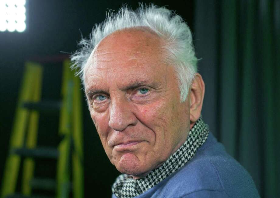 """In this Wednesday, June 12, 2013 photo, English actor Terence Stamp poses for a photo during an interview in Los Angeles. Before """"Man of Steel"""" and Michael Shannon, there was Stamp delivering what debatably remains the quintessential screen version of General Zod: perhaps the most frightening of all the screen villains to take on Christopher Reeves' Superman. Some 35 years later, Stamp is back onscreen -- sometimes frightfully, always delightfully grumpy as a pensioner who finds his lost voice, and heart, in a local seniors choir in the drama, """"Unfinished Song."""" (AP Photo/Damian Dovarganes) Photo: Damian Dovarganes"""