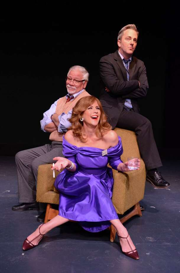 Steven Austin Young, Michael Rhodes and Colleen Zenk in Stageworks/Hudson's 2013 production of LOOPED. Photo: Rob Shannon.