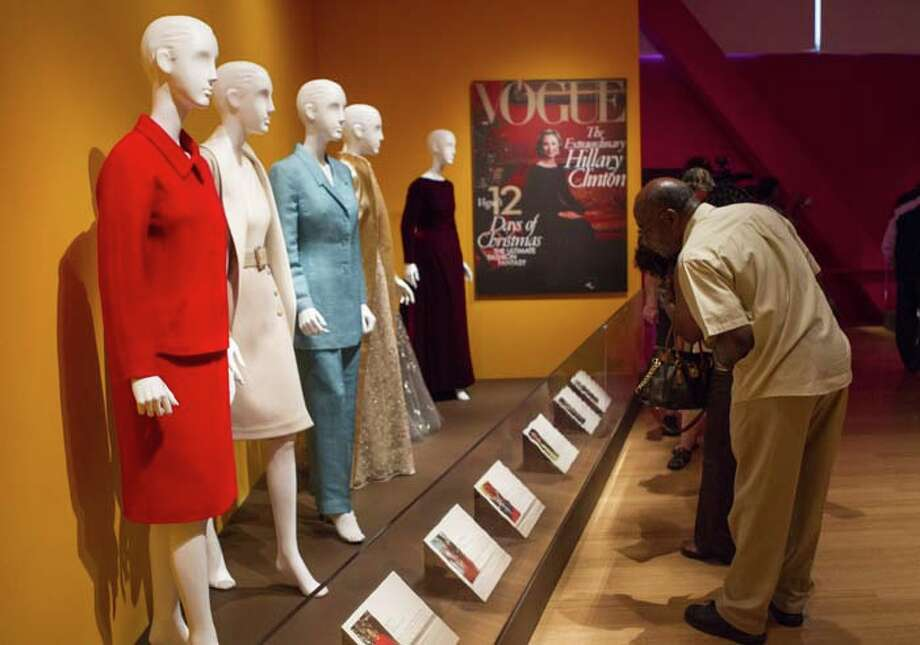 LITTLE ROCK, AR - JULY 08: A view of atmosphere at the Oscar de la Renta: American Icon reception at the William J. Clinton Presidential Center on July 08, 2013 in Little Rock, Arkansas. Photo: Wesley Hitt, Getty Images / 2013 Getty Images