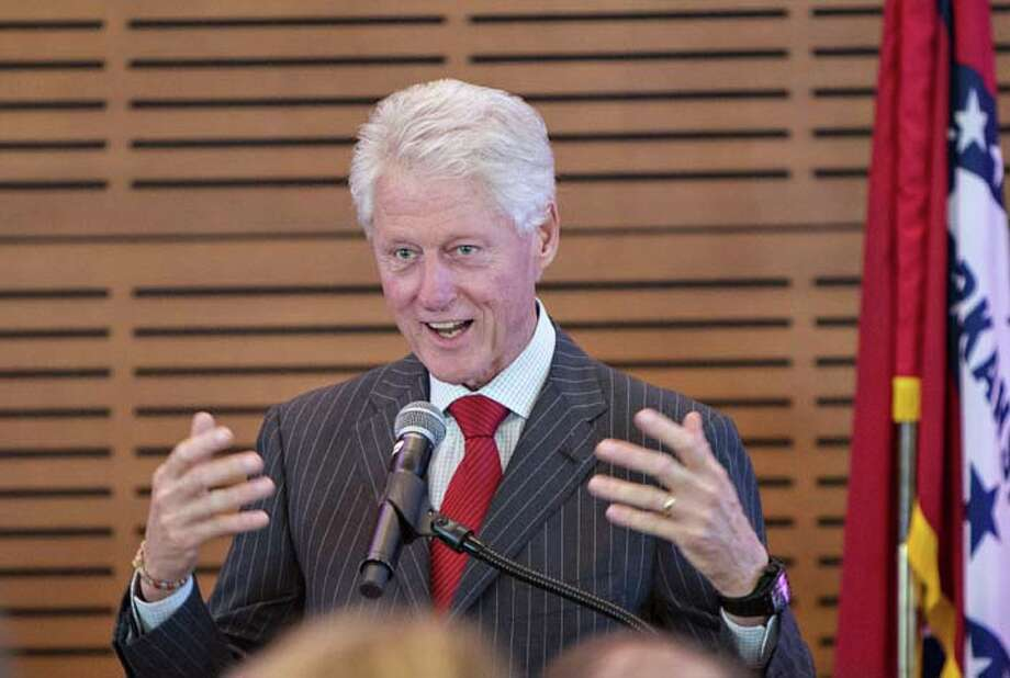 LITTLE ROCK, AR - JULY 08: Former President Bill Clinton speaks at the Oscar de la Renta: American Icon reception at the William J. Clinton Presidential Center on July 08, 2013 in Little Rock, Arkansas. Photo: Wesley Hitt, Getty Images / 2013 Getty Images