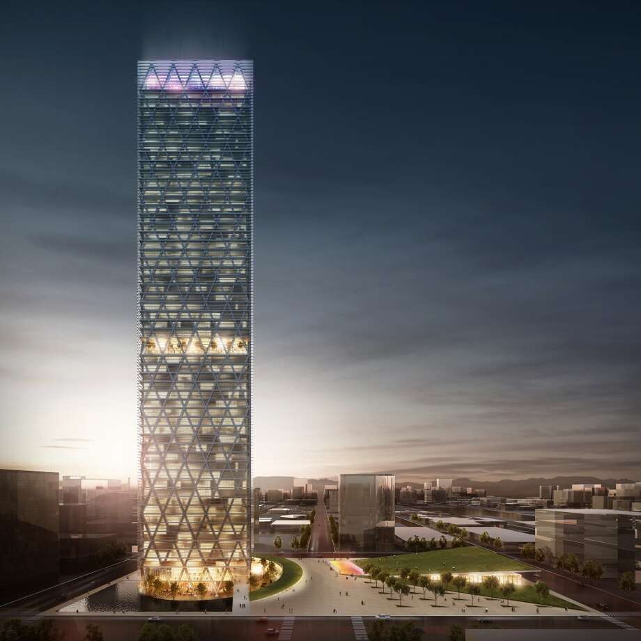 The Energy Tower in Midland, Texas would be the state's sixth tallest, rising 58 stories, according to the developer. Photo: Edmonds International