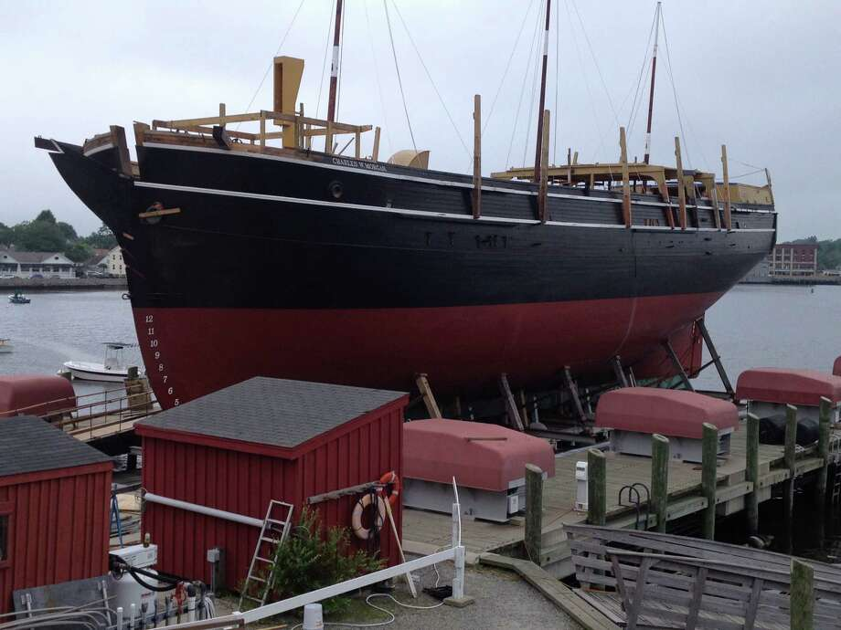The oldest merchant ship in America, the Charles W. Morgan, will be relaunched at Mystic Seaport Sunday, July 21, following a $7 million, five-year restoration project. Photo: Contributed Photo
