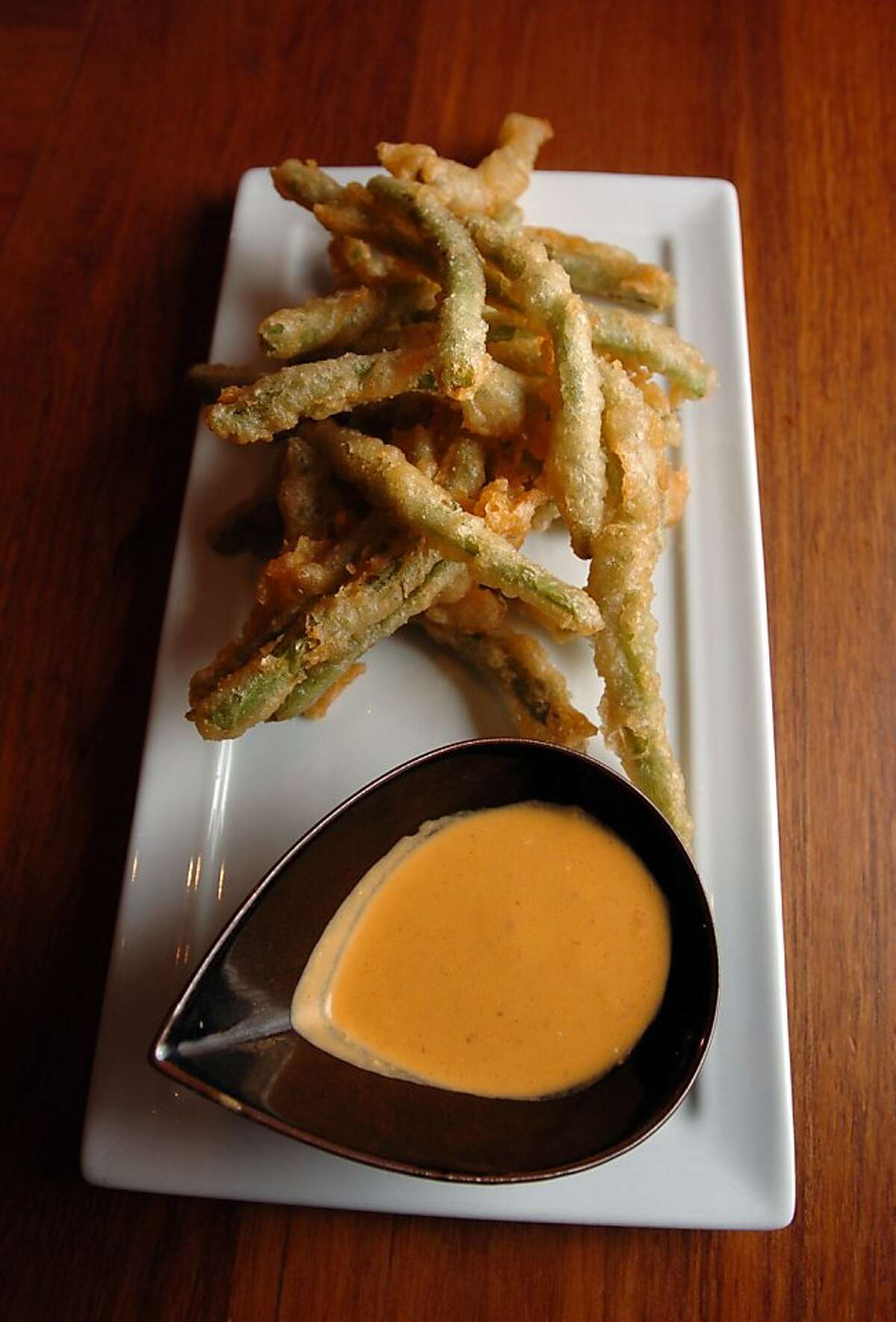 18Coco500_07_JMM.JPG Fried green beans at the Coco500 restaurant. Loretta Keller, one of the top chefs in the city, has transformed her popular Bizou restaurant with a new interior, a new name--Coco500--and a modern menu featuring small plates. Event on 8/31/05 in San Francisco. JAKUB MOSUR / The Chronicle